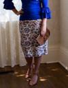 Modest Original Paisley Pencil Skirt