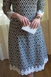 Vintage Dainty In Damask Dress