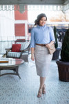 Modest Gingham Pencil Skirt