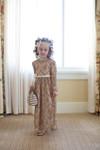 Vintage Ever-So-Lovely Dress for Girls (Beige)