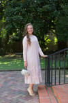 Vintage English Rosemary Dress (Blush)