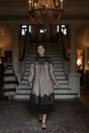 Vintage English Rosemary Dress Black/Beige