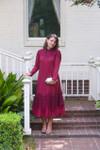 Vintage English Rosemary Dress Cranberry