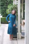 Vintage English Rosemary Dress Jade