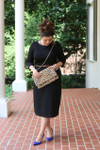 Modest Solid Black Layering Dress