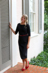 Modest Solid Black Layering Dress