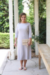 Modest Solid Gray Layering Dress
