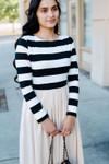 Sidewalk Stroll Dress (Black/Cream)
