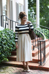Vintage Sidewalk Stroll Dress (Black/Cream)