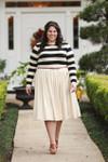 Vintage Sidewalk Stroll Dress (Black/Cream)