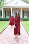 Vintage Hamptons Dinner Dress Cranberry