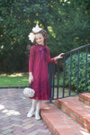 Modest Little English Rosemary Dress (Cranberry)