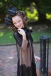 Modest Little English Rosemary Dress (Black/Beige)