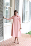 Modest Parisian Poise Dress in Peach