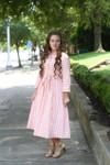 Vintage Merry-Go-Round Dress (Peach)