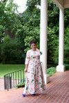 Modest Delicate Rose Garden Dress
