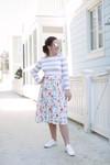Sidewalk Stroll Dress (Gray Florals)