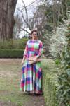 Modest Countryside Carnival Dress