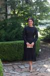 Black Vintage Sweet Peony Dress