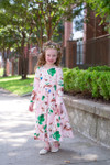 Modest Little Delicate Rose Garden Dress