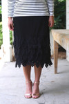 Vintage Original Black Scalloped
