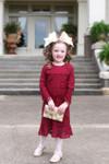 Modest Little Sweet Peony Dress (Wine)