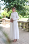 Stroll at the Manor Dress (White)