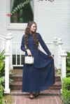 Stroll at the Manor Dress (Navy)