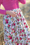 Sidewalk Stroll Dress (Bright Pink Florals)