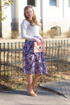 Sidewalk Stroll Dress (Navy Floral)