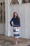 Striped Basic Pencil Skirt (4 Colors)