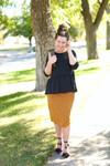 The Polka Dot Pencil Skirt