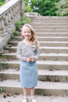 Striped Bow Top for Girls (2 Colors)