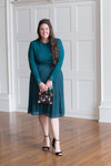 Stroll at the Manor Dress (Emerald)