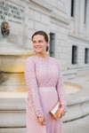 Stroll at the Manor Dress (French Rose)