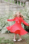 Radiant Rose Dress for Girls