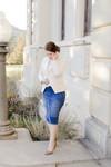 Distressed Denim Skirt (2 Colors)