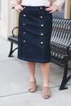 Preppy Denim Skirt