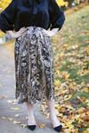 Sophisticated Snakeskin Skirt