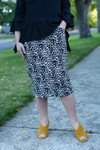 Leopard Denim Skirt (2 Colors)
