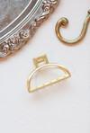 Semi Circle Gold Hair Clip