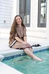 Spotted Circle Swim Dress