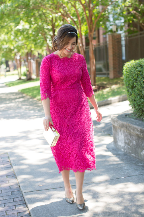 Velvet and Lace Dress (3 Colors)
