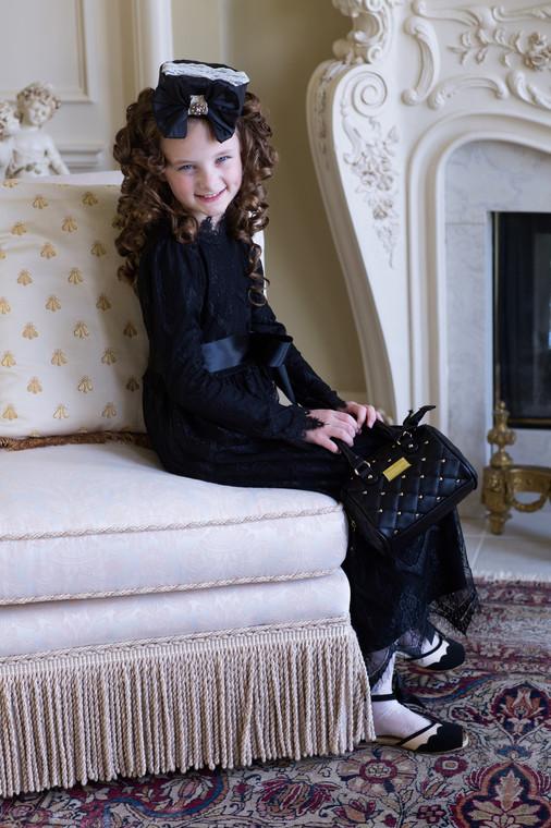 Vintage Girls Ever-So-Lovely Dress In Black