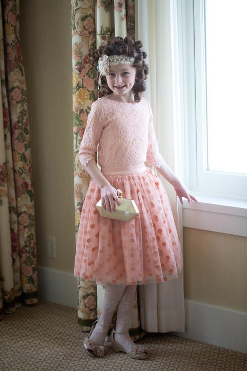 Vintage Little Lace Top (Rose)