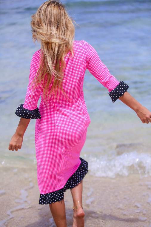 Gingham and Dot Swimdress