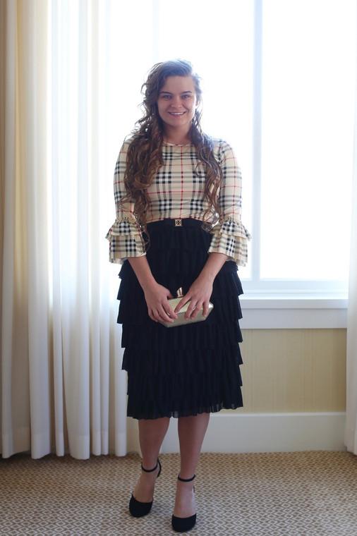 Vintage The Dainty Ruffle Skirt