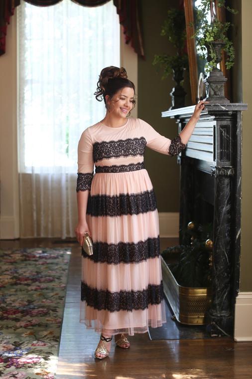 Vintage Springtime at the Chateau Dress