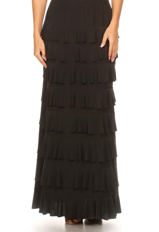 Lovely Ruffle Skirt (Black)