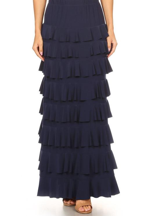 Lovely Ruffle Skirt (Navy)